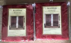 NEW - Royale Red Royston Curtains!