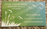All year landscaping! Call us for great rates!