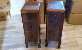 Two Art Deco Bedside Cabinets (1930s)
