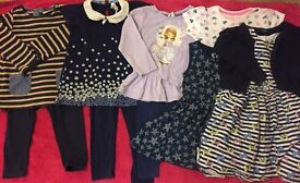 Girls bundle of 11 clothing items aged 2-3 years