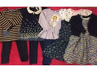 Girls bundle of 11 clothing items aged 2-3 years