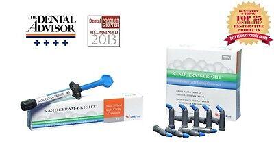 Dental Dmp Nanoceram Bright  Nano Hybrid Light Curing Composite    Uni Dose   A2