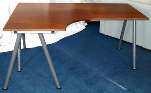 "Office Desk – IKEA Galant desk ""Combination Left"" with A-legs"