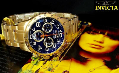 New Invicta 10741 Reserve Cadet Military Swiss Quartz Chronograph 18k SLS Watch