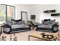 ##free pouffe## with 3n2 seater new sofas
