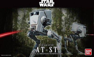 Bandai 1/48 Scale Model Kit Star Wars AT-ST All Terrain Scout Transport Walker