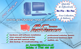 Professional laptop and computer service - PC Home Advisor