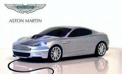 Aston Martin Dbs USB con Filo Auto Mouse (Color Argento) Regalo di Natale