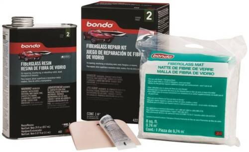 NEW Bondo 422 Fiberglass Resin Repair Kit 1 qt Can & CLOTH 6839062