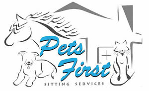 """Pets First Sitting Services"" Putting your pets first since '09!"