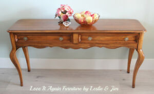 French Provincial Sofa Table