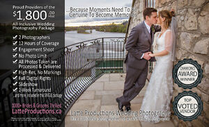 Wedding Photography: 12hrs, 2 Photographers, Regions Best Value Kitchener / Waterloo Kitchener Area image 3