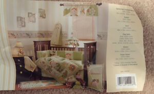 Lambs & Ivy Jungle Theme 5 piece Baby Girl Boy Crib Set Bedding