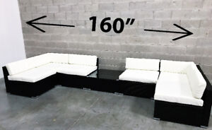 Patio furniture Outdoor wicker Set includes Cushions & Table New