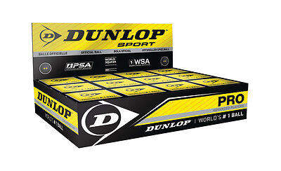 NEW Dunlop Squash Balls Pro Double Dot Yellow Official Ball of the WSF, PSA, WSA