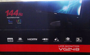 "ASUS VG248QE 24"" Gaming 3D Monitor 144 Hz 1920x1080 1ms Response"