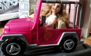 Journey Girl and Jeep