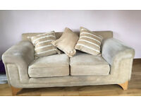 2x Fabric Two-Seater Sofas MUST GO URGENTLY