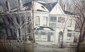 "Toronto Artist Roxann Vivian Smith ""The White House"" Watercolor Stratford Kitchener Area image 8"