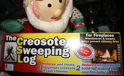 CSL Creosote Chimney Fireplace Cleaning Sweeping Log safety  1 pack NEW