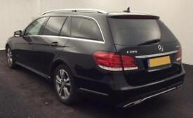 2015 BLACK MERCEDES E220 2.1 CDI SE PREMIUM AUTO ESTATE CAR FINANCE FROM 54 P/WK