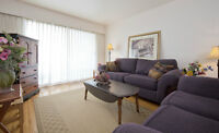 VERY BRIGHT ONE BEDROOM FULLY FURNISHED SUITE NEAR THE MARINA