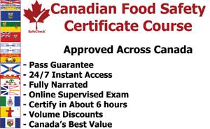 Food Handler Certificate $48 - includes exam & pass guarantee