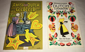 Amish Dutch & Pennsylvania Dutch Vintage Cookbook lot of 2