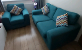 2 seater Sofa bed and single chair