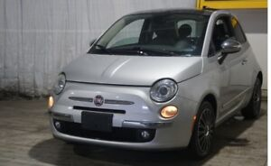 2012 Fiat 500 Leather Sunroof 2dr HB