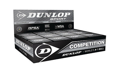 NEW Dunlop Competition Ball - Pack of 12 - Pack of Competition Squash balls