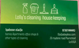 House keeping homes Apartments offices shops & all othen types of clea