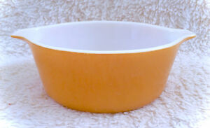 Vintage PYREX 1-1/2 PT Orange Primary Cinderella Mixing Bowl