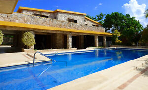 3 Bdrm,ocean-front home with pool for sale in Celestun, Mexico