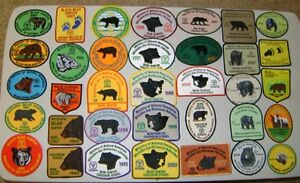 ONTARIO MNR DEER,BEAR,MOOSE HUNTING PATCHES,fishing lures sale
