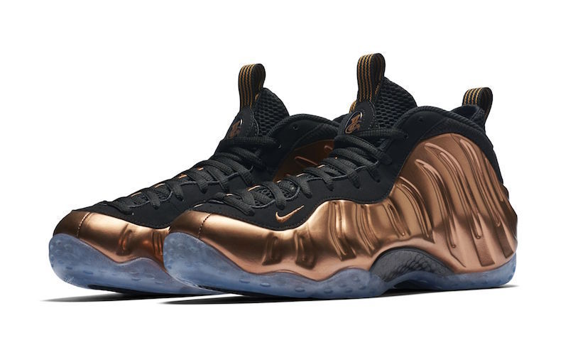 Nike Air Foamposite One Copper Og Size 9.5-15 Black Metallic Copper 314996-007