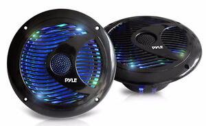 "6.5"" Marine Speakers with Built in LED Lighting"