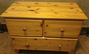 Two Pine Tables $40 for large $20 for small 50 for both