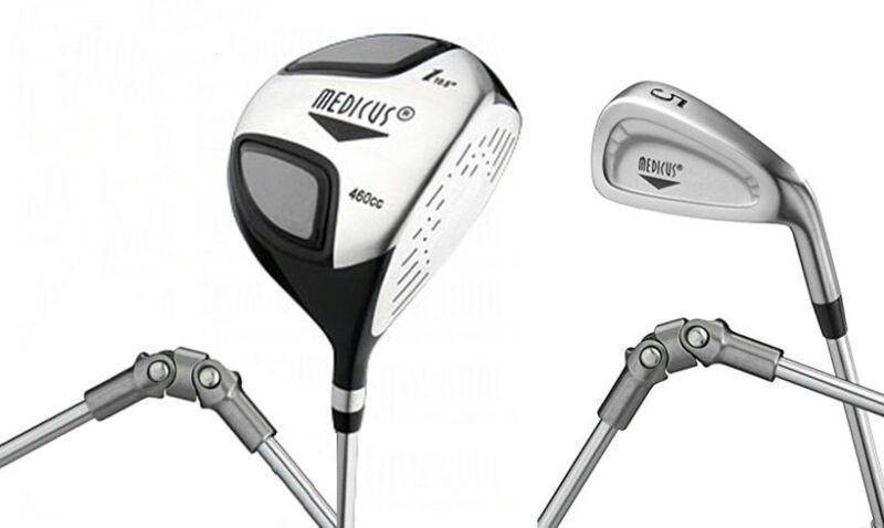 NEW Medicus 460cc Driver+ 5 Iron  Dual Hinged -training Aid Golf clubs Men RH