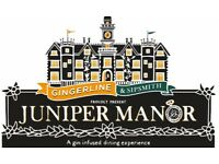 2x tickets for Gingerline and Sipsmith's Juniper Manor- A Gin Infused Dining Experience