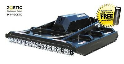 Blue Diamond Brush Cutter Skid Steer Attachment Ex Closed Front Low Flow 72