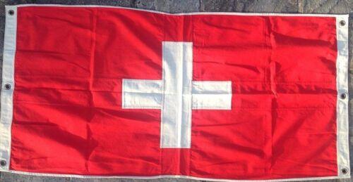 Switzerland Nautical Flag FULLY SEWN Vintage Style 152cm x 76cm With 6 Eyelets
