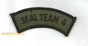 SEAL-TEAM-FOUR-TAB-HAT-PATCH-SPECIAL-OPERATIONS-SCUBA-US-NAVY-Base-Little-Creek