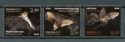 Croatia 2017 MNH Croatian Fauna Bats 3v Set Stamps