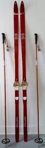 Vintage JARVINEN X Country Skis FINLAND Antique COTTAGE
