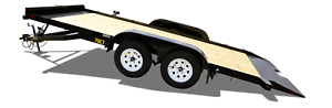 NEW 20' BIG TEX TANDEM AXLE TILT TRAILER