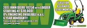 GET A GREAT DEAL ON A NEW 2017 JOHN DEERE 1025R WITH LOADER