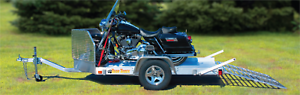 "BEAR TRACK 76""X11' MOTORCYCLE ALUMINUM TRAILER!"