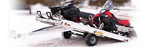 """BEAR TRACK SNOWMOBILE TRAILER!  99""""X10' TILT!"""