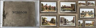 Vintage Paper Folio Containing 9 Paper Prints of WINDSOR England Scenes